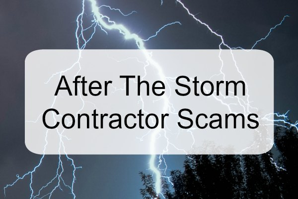 Warning Signs For Contractor Scams